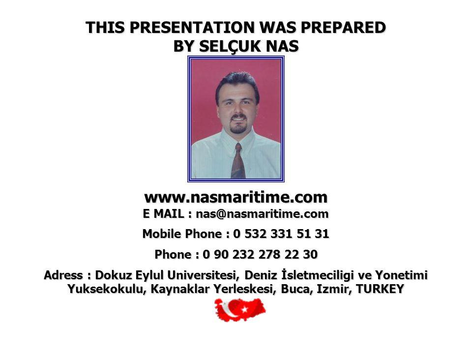 THIS PRESENTATION WAS PREPARED BY SELÇUK NAS www.nasmaritime.com E MAIL : nas@nasmaritime.com Mobile Phone : 0 532 331 51 31 Phone : 0 90 232 278 22 3