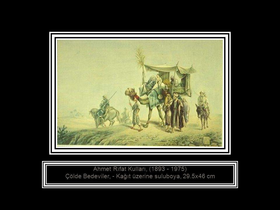 Ahmet Ragıp, (1871 - ? ) Manzara, Yıldız Sarayı Bahçesinden, -Tuval üzerine yağlıboya, 73x92 cm