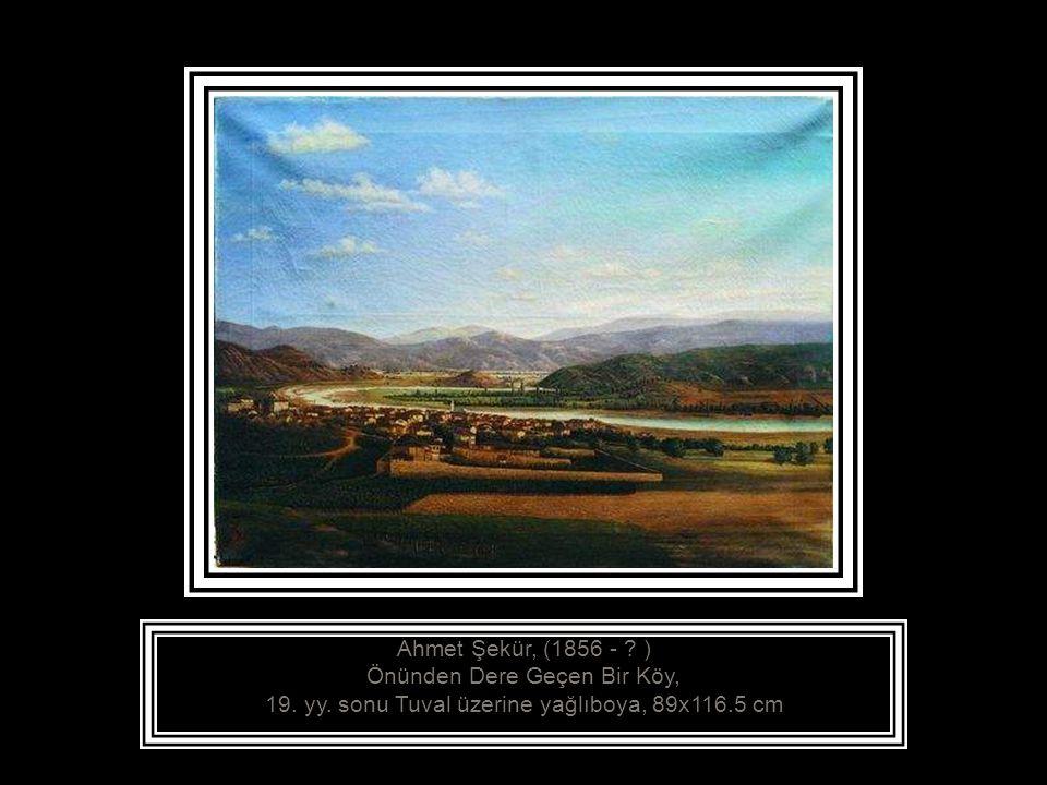 Ahmet Şekür, (1856 - ? ) Kağıthane Deresi, 19. yy. sonu Tuval üzerine yağlıboya, 69.5x100 cm