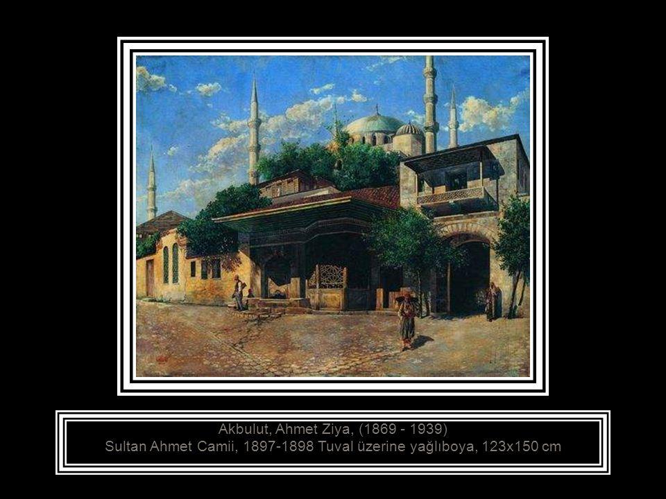 Ahmet Ziya (Şamlı) Manzara, Yıldız Sarayı Bahçesinden, 19 yy sonu Tuval üzerine yağlıboya, 73x92 cm