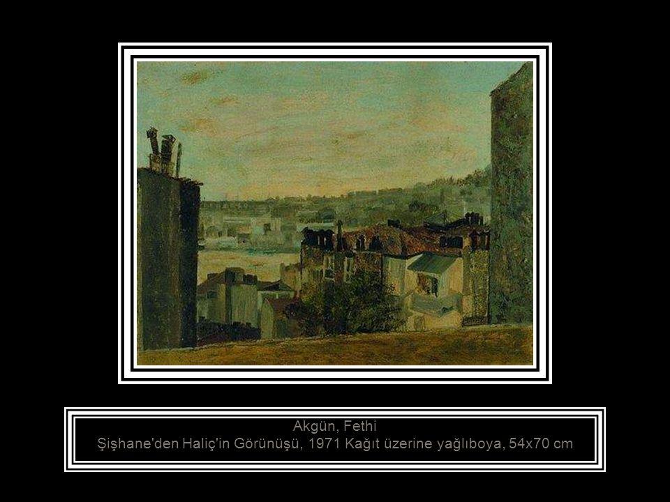 Akdik, Şeref, (1899 - 1972) Manzara, 1934 Tuval üzerine yağlıboya, 49.5x64.5 cm