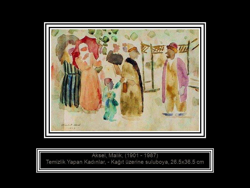 Aksel, Malik, (1901 - 1987) Enteriyör, 1934 Tuval üzerine yağlıboya, 60x85.5 cm