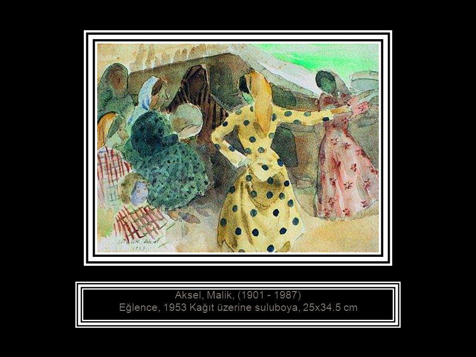 Aksel, Malik, (1901 - 1987) Oturan Kadın, 1935 Tuval üzerine yağlıboya, 46x36 cm