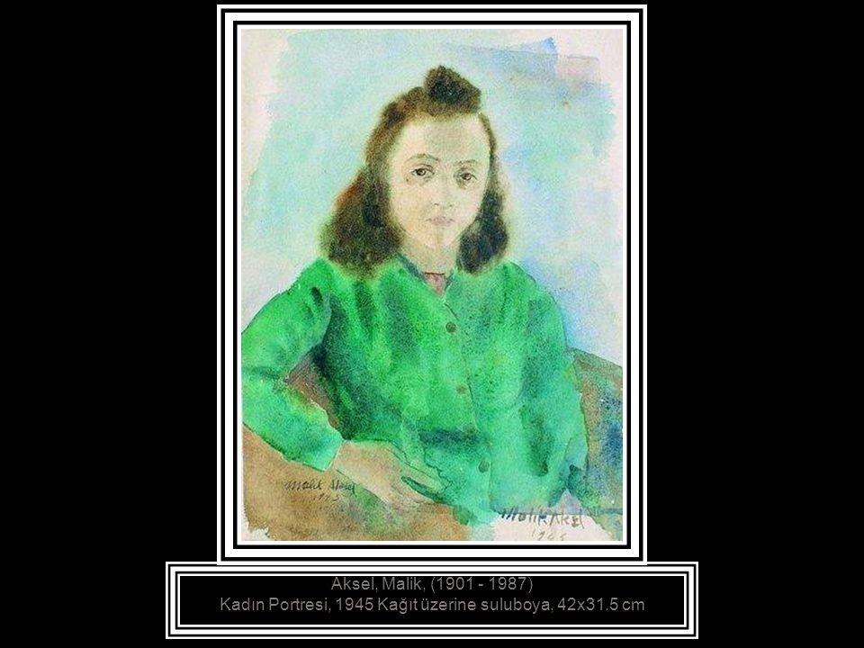 Aksel, Malik, (1901 - 1987) Denizli de Bir Gelin, 1942 Tuval üzerine yağlıboya, 73x55.5 cm