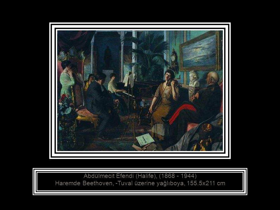 Abdülmecit Efendi (Halife), (1868 - 1944) Zeybekler, 1889-1890 Tuval üzerine yağlıboya, 142.5x196 cm