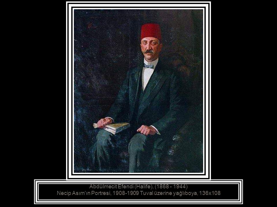Abdülmecit Efendi (Halife), (1868 - 1944), Atlar, - Tuval üzerine yağlıboya, 110 x152 cm