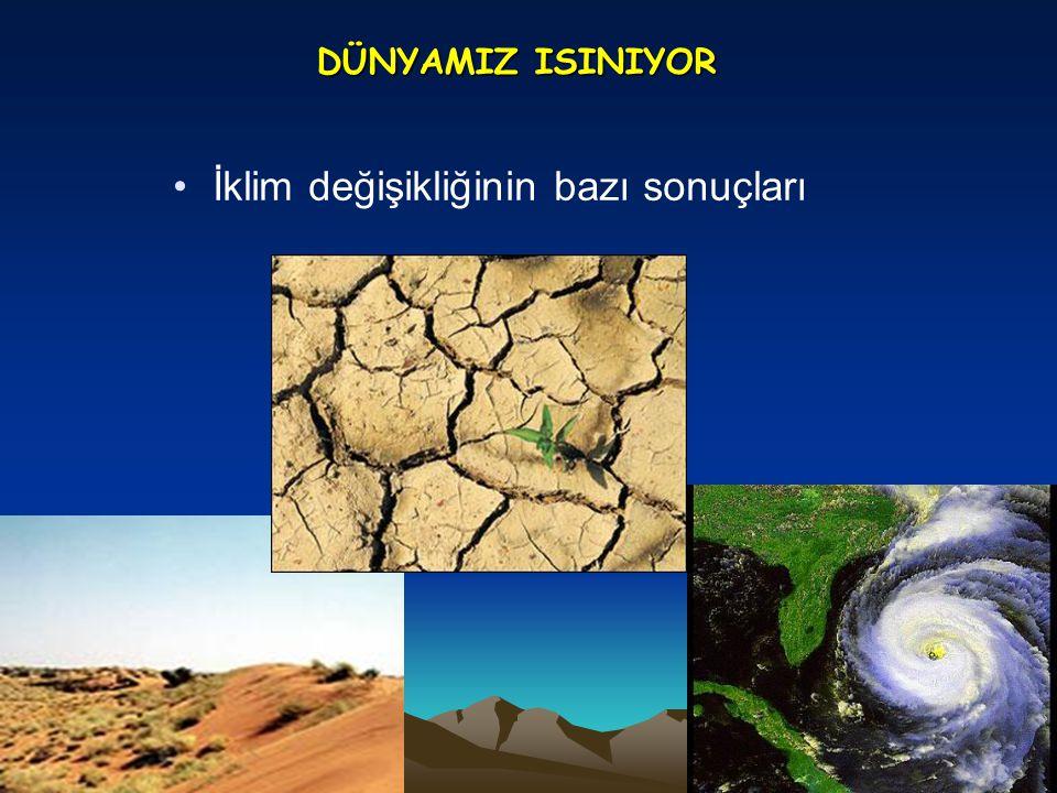 DÜNYAMIZ ISINIYOR •İklim değişikliğinin bazı sonuçları