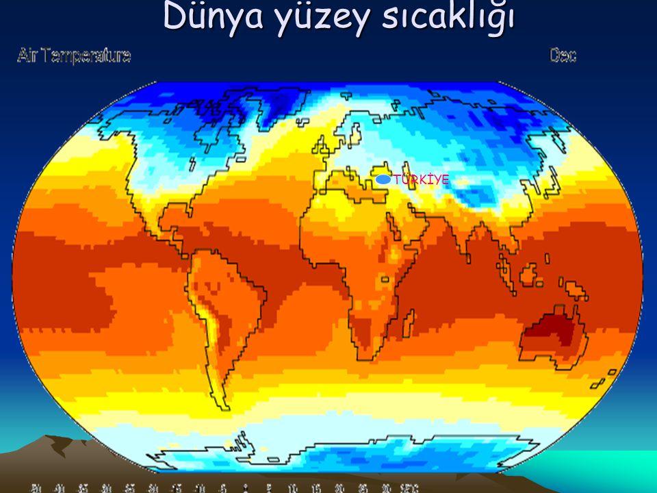 Dünya yüzey sıcaklığı TÜRKİYE