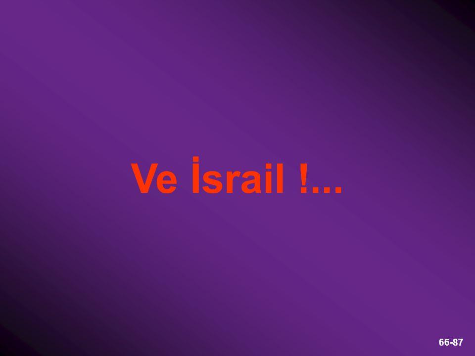 66-87 Ve İsrail !...