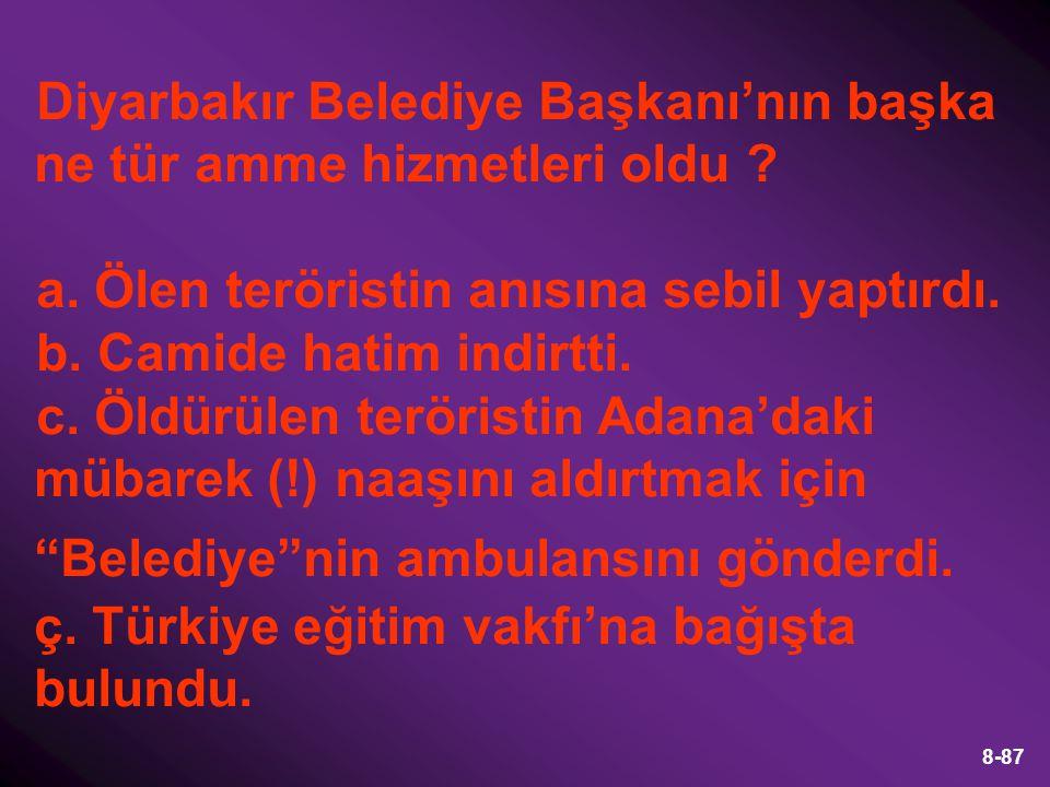49-87 Sonuç: Bu hızla giderse Hatay'da nüfus dengesi Türk nüfus aleyhine bozulabilir ve Hatay Suriye'ye geçebilir.