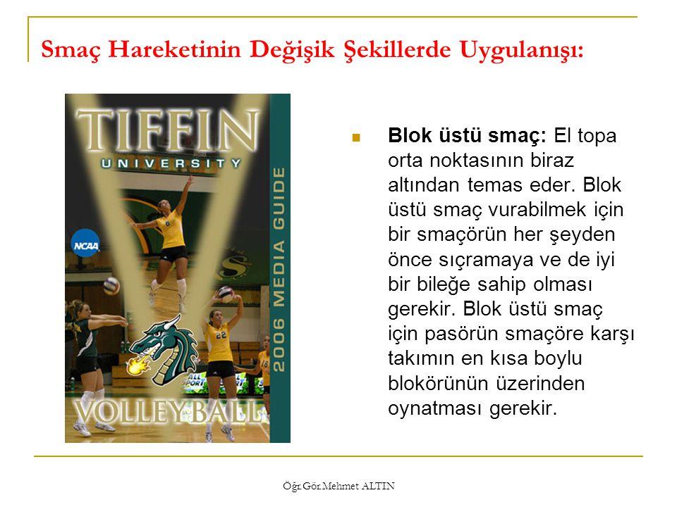 Öğr.Gör.Mehmet ALTIN Smaç Çalışması İçin Yardımcı Materyaller LeapIt- BungeeBlocker- SettertargIt- Volleyballpall