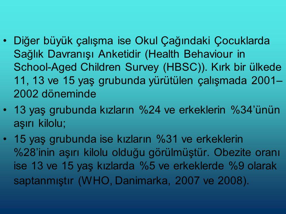 •Türkiye'de Obezite Yaygınlığı •Dünya genelinde önemli bir halk sağlığı sorunu haline gelen obezite Türkiye'de de hızla yayılma göstermektedir.