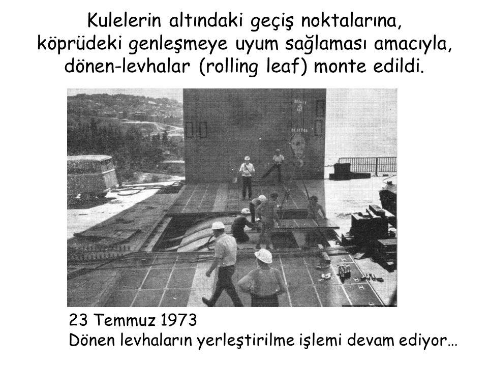 Ortaköy ve Beylerbeyi üzerinden geçen, Yaklaşım viyadükleri nin inşasına, Şubat 1973'de başlandı ve Mayıs 1973'de bitirildi.