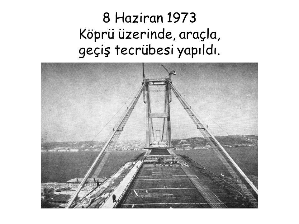 15 Mart 1974 Çevreyolu'nun önemli geçişlerinden olan, Haliç Köprüsü'nün iki yakası birleştirildi ve yaya olarak geçildi.