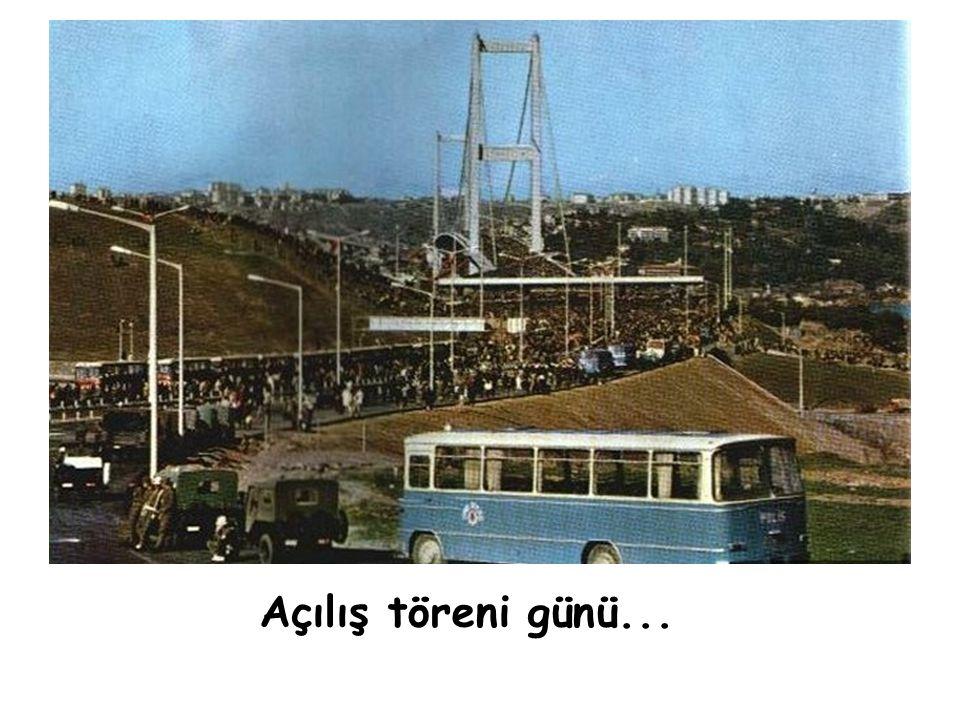 30 Ekim 1973 BOĞAZİÇİ KÖPRÜSÜ törenle hizmete açıldı... ( Cumhuriyet'in 50. Yıldönümü )