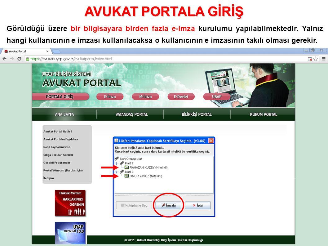 Görüldüğü üzere bir bilgisayara birden fazla e-imza kurulumu yapılabilmektedir.