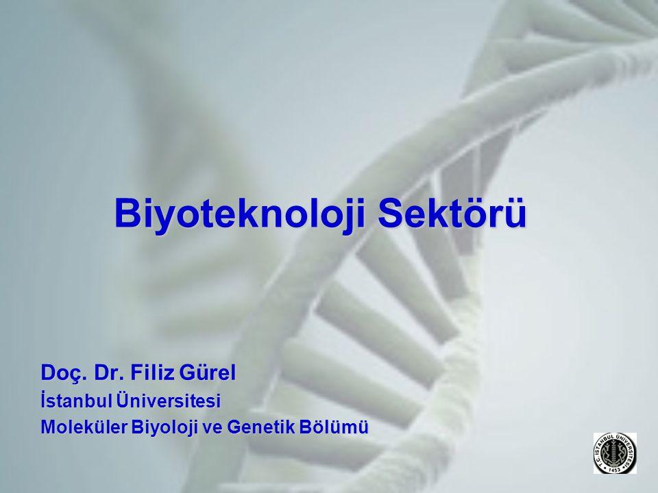 Biyoteknoloji Sektörü Doç.Dr.