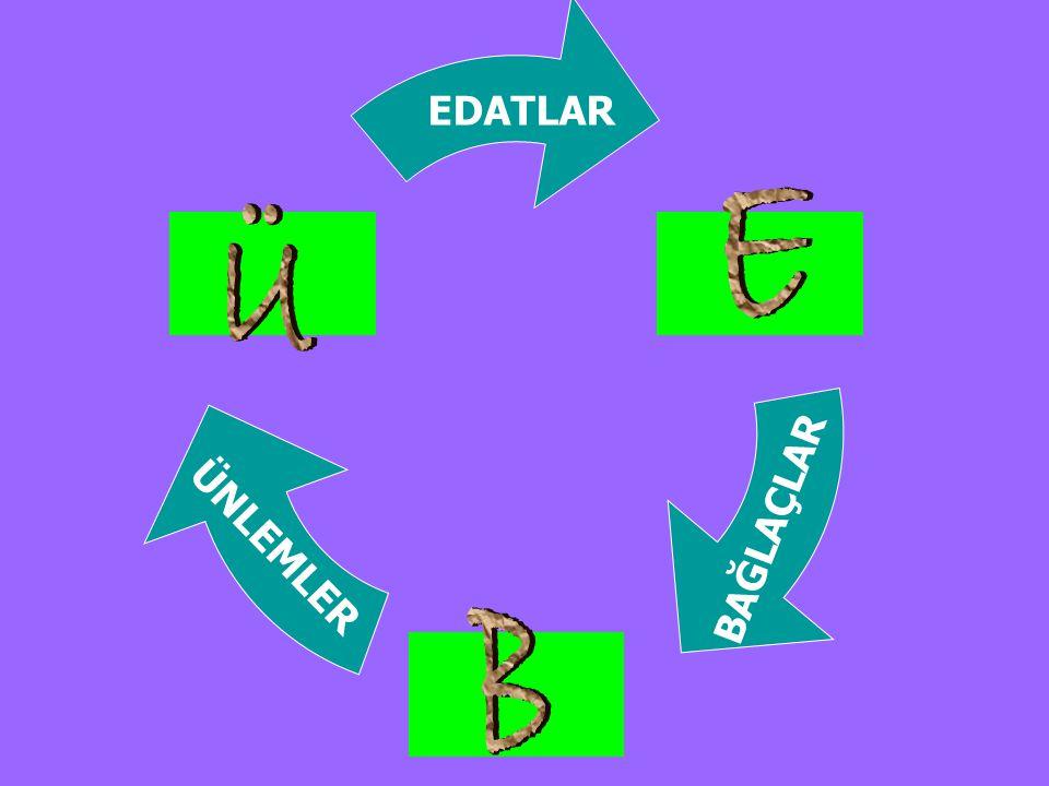 3.Edatlar, iyelik ekini aldığı zaman adlaşır ve ad tamlaması kurabilir.