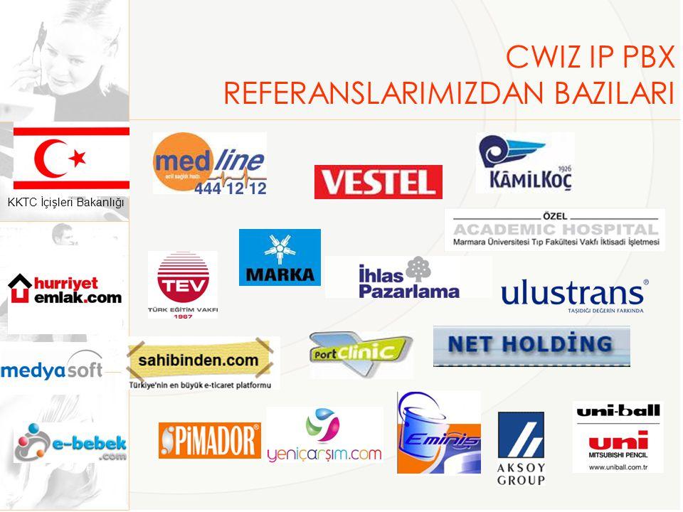 CWIZ IP PBX REFERANSLARIMIZDAN BAZILARI KKTC İçişleri Bakanlığı