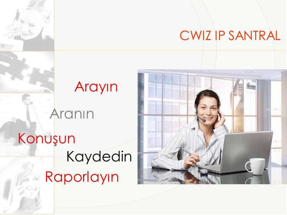 CWIZ IP SANTRAL Arayın Aranın Kaydedin Raporlayın Konuşun