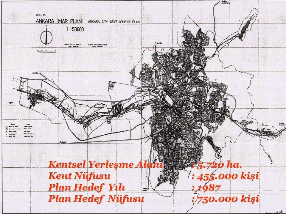 Kentsel Yerleşme Alanı : 300 ha. Kentsel Yerleşme Alanı : 300 ha. Kent Nüfusu: 74.500 kişi Kent Nüfusu: 74.500 kişi Plan Hedef Yılı: 1978 Plan Hedef Y