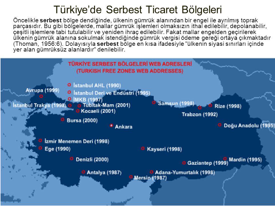 Türkiye'de Serbest Ticaret Bölgeleri Öncelikle serbest bölge dendiğinde, ülkenin gümrük alanından bir engel ile ayrılmış toprak parçasıdır. Bu gibi bö