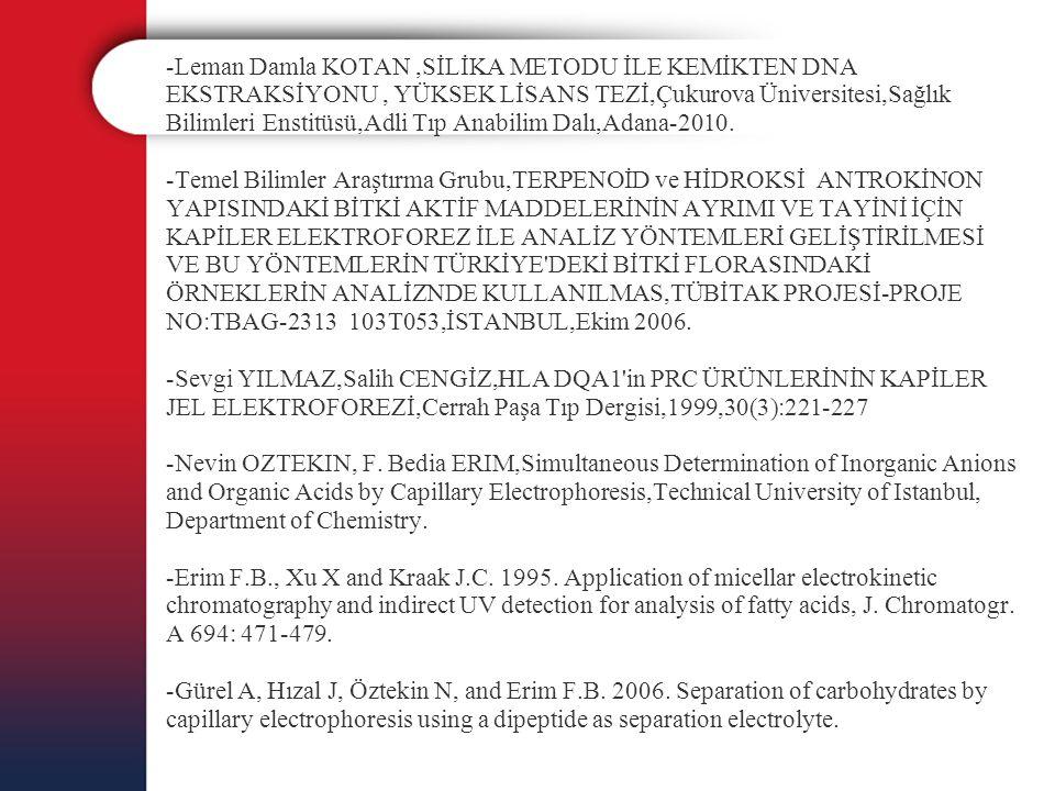 -Leman Damla KOTAN,SİLİKA METODU İLE KEMİKTEN DNA EKSTRAKSİYONU, YÜKSEK LİSANS TEZİ,Çukurova Üniversitesi,Sağlık Bilimleri Enstitüsü,Adli Tıp Anabilim
