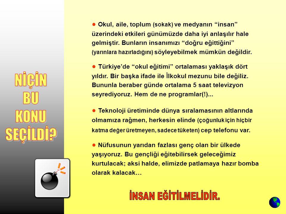 ● ● Türkiye'de tuzu kuru kesim, imam hatip liselerini yaşantısına tehdit olarak algılıyor ve ideolojileri gereği (açık-örtülü) din düşmanlığı yapan tüm kesimlerle işbirliği içine giriyor.