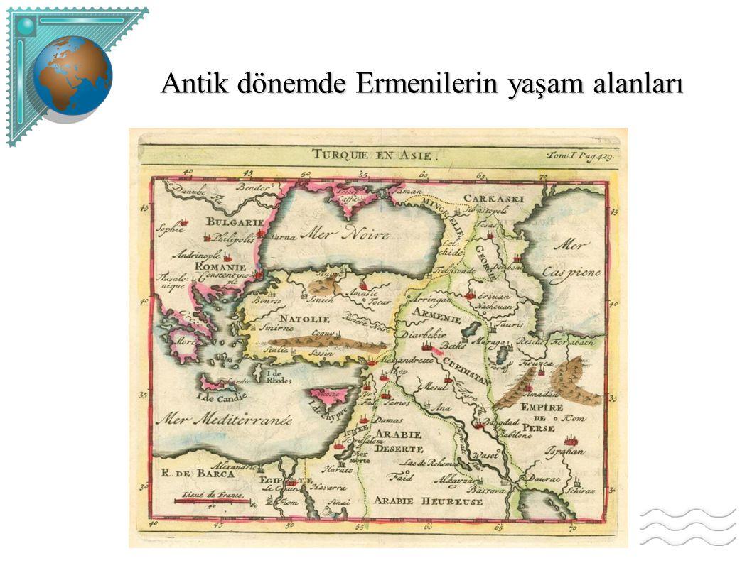 Antik dönemde Ermenilerin yaşam alanları