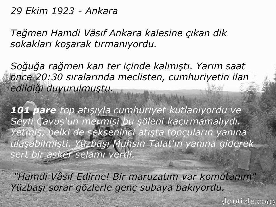 Ocak 1923-Ankara Savaşın bitmesinin ardından Ankara'daki mühimmat depolarında sayım ve temizlik yapılıyordu. Sandıklar tek açılıyor, mermiler sayılıp
