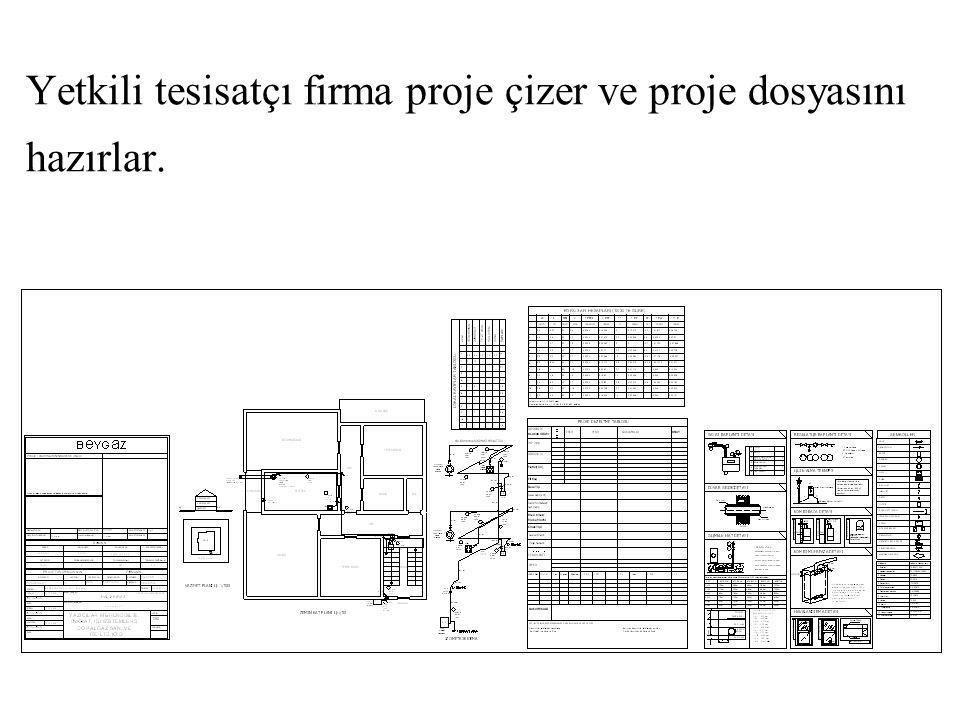 Yetkili tesisatçı firma projeyi Beygaz'a gönderir.