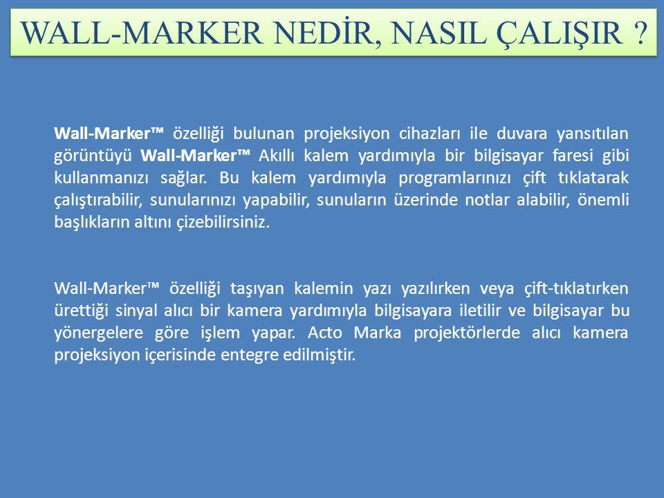 WALL-MARKER NEDİR, NASIL ÇALIŞIR .