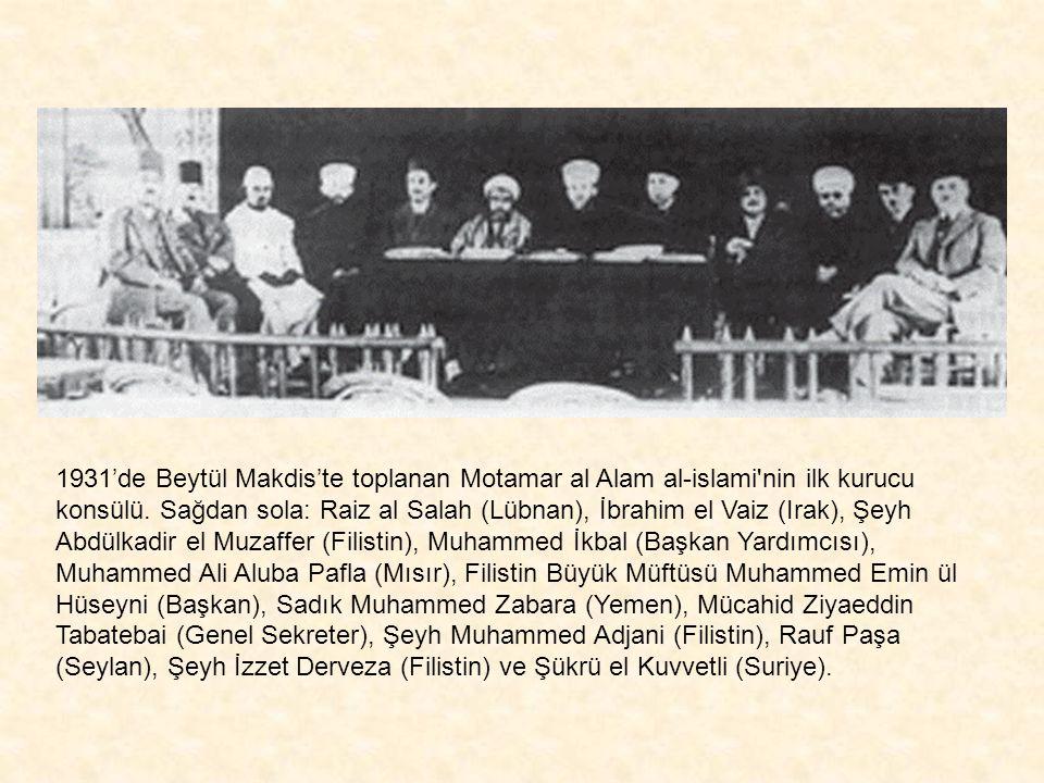 Hacı Emin El-Hüseyni, 1. Dünya Savaşı başında Osmanlı subayı üniformasıyla 1921'de Kudüs'te İngiliz yönetimi altında yapılan müftülük seçimlerine aday