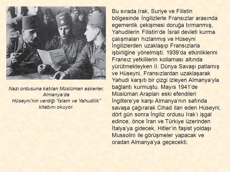 1931'de Beytül Makdis'te toplanan Motamar al Alam al-islami'nin ilk kurucu konsülü. Sağdan sola: Raiz al Salah (Lübnan), İbrahim el Vaiz (Irak), Şeyh