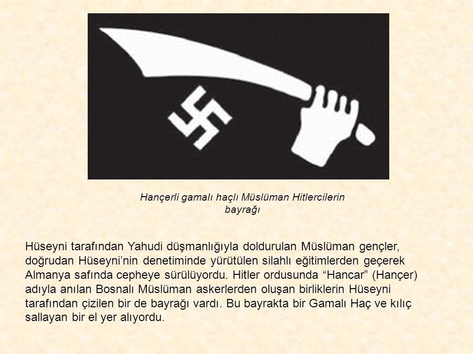 Müslümanlar arasında Hitler yandaşlığı uyandırmak üzere yayınlara başlayan Hüseyni, her gün Alman radyosunda konuşarak (hangi dilde?? æ)Balkanlarda ya