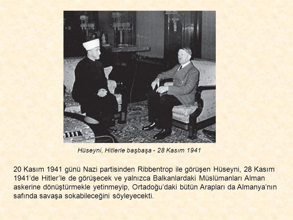 Hüseyni tarafından Yahudi düşmanlığıyla doldurulan Müslüman gençler, doğrudan Hüseyni'nin denetiminde yürütülen silahlı eğitimlerden geçerek Almanya s