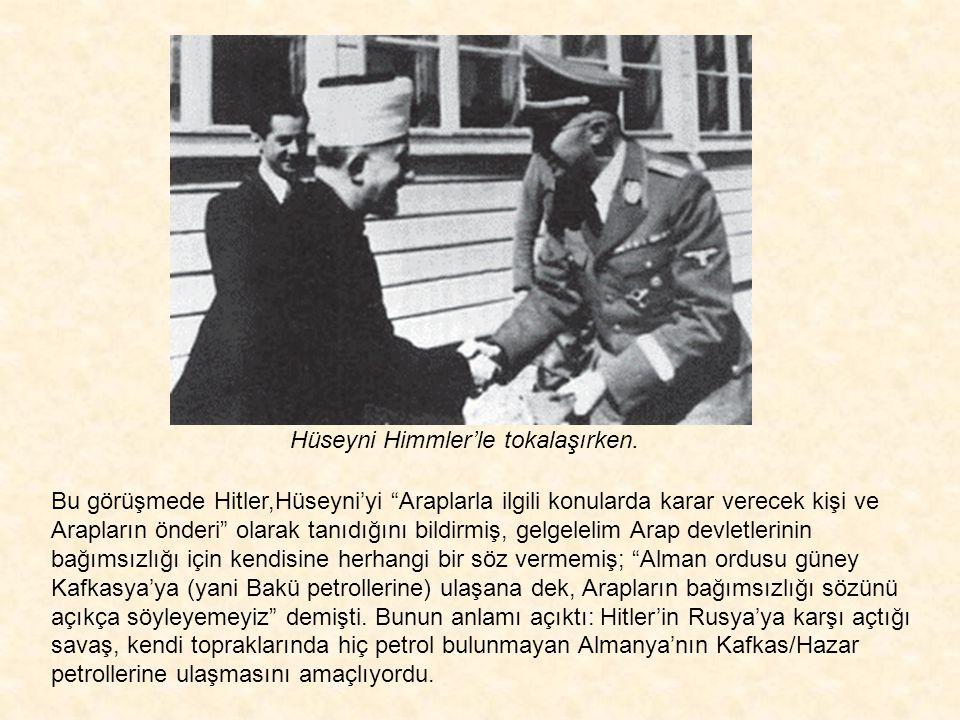 20 Kasım 1941 günü Nazi partisinden Ribbentrop ile görüşen Hüseyni, 28 Kasım 1941'de Hitler'le de görüşecek ve yalnızca Balkanlardaki Müslümanları Alm