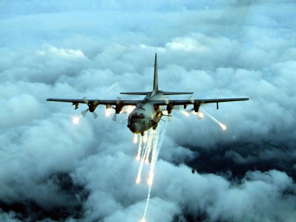 Silah Sistemleri •AC-130 da tüm silahlar uçağın sol kısmında bulunmaktadır.