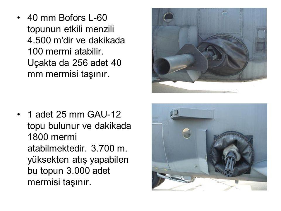 Saldırı Taktiği •AC-130 un klasik saldırı taktiği 3.000 m yükseklikten 300 km/s hızla hedef bölgeye yaklaşmak ve saat yönünün tersine hedef üzerinde daireler çizmektir.