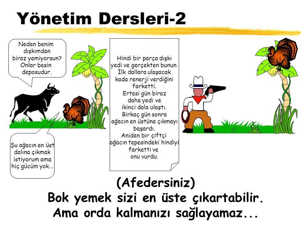 Yönetim Dersleri-2 Şu ağacın en üst dalına çıkmak istiyorum ama hiç gücüm yok...