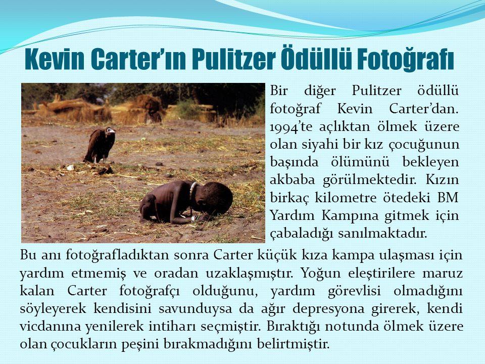 Kevin Carter'ın Pulitzer Ödüllü Fotoğrafı Bir diğer Pulitzer ödüllü fotoğraf Kevin Carter'dan.