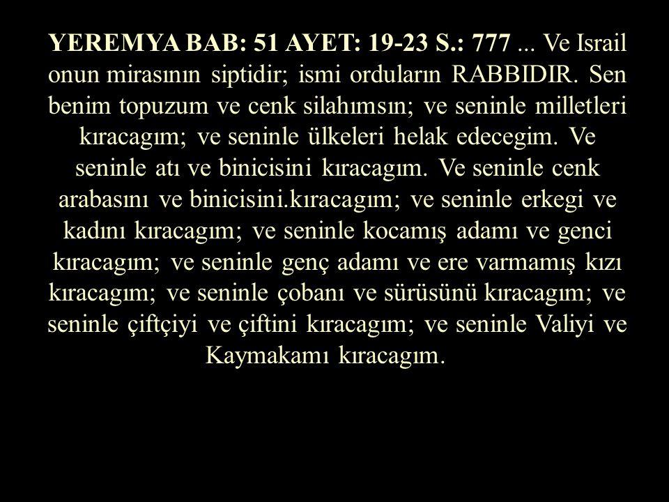 M. TEVRAT'TA KATLİAM EMİRLERİ