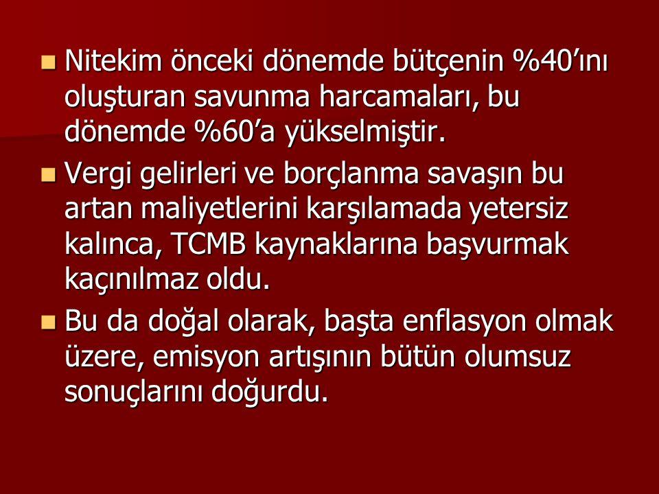  Batılı uzmanların Türkiye'ye önerileri şöyle özetlenebilir: 1.