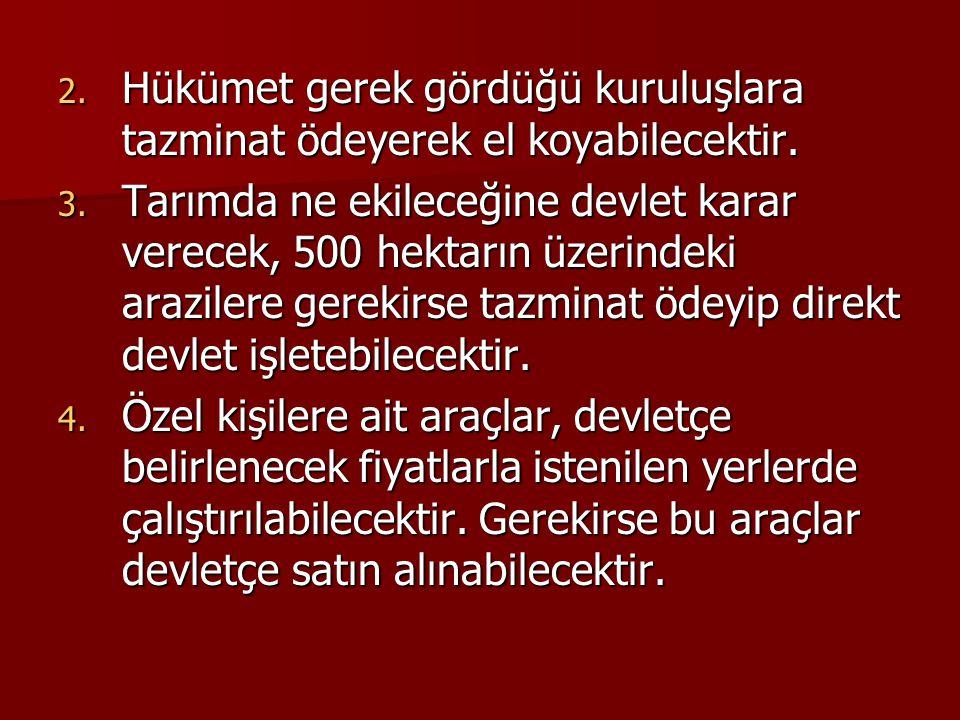  Savaş sonrası dönemde politika arayışları içerisinde olan Türkiye, uygulama şansı bulmayan 2 plan oluşturmuştur.