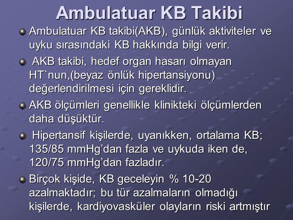 Klinikte doğru KB ölçümü Doğru bir şekilde kalibre ve valide edilmiş bir aletle, oskültasyon yöntemi kullanılarak KB ölçümü yapılmalıdır. Hastalar, mu