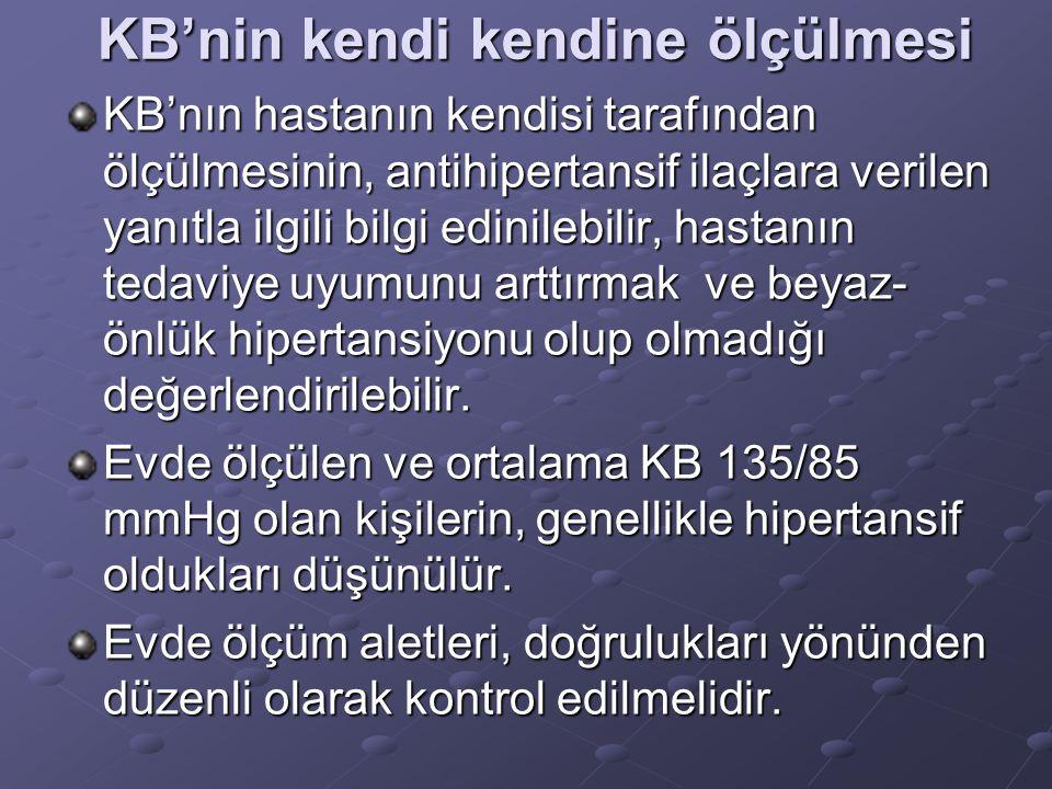 Ambulatuar KB Takibi Ambulatuar KB takibi(AKB), günlük aktiviteler ve uyku sırasındaki KB hakkında bilgi verir.