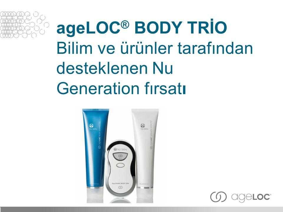 ageLOC ® BODY TRİO Bilim ve ürünler tarafından desteklenen Nu Generation fırsatı