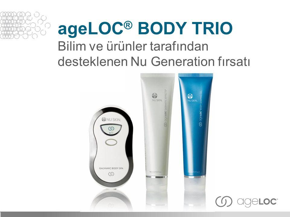 ageLOC ® BODY TRIO Bilim ve ürünler tarafından desteklenen Nu Generation fırsatı