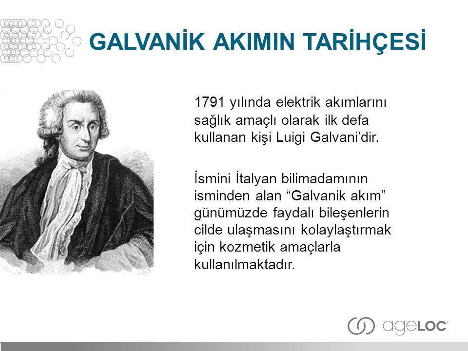 """1791 yılında elektrik akımlarını sağlık amaçlı olarak ilk defa kullanan kişi Luigi Galvani'dir. İsmini İtalyan bilimadamının isminden alan """"Galvanik a"""