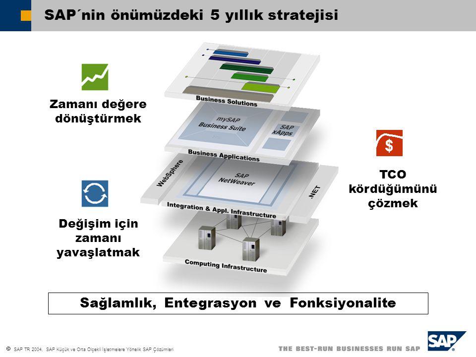 SAP TR 2004, SAP Küçük ve Orta Ölçekli İşletmelere Yönelik SAP Çözümleri İÇERİK 1 ECZACIBAŞI BİLGİ İLETİM RUNWAY